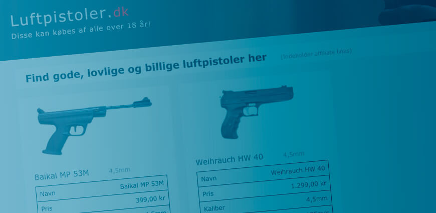 I Affiliate marketing - Ny side om luftpistoler